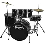 Mapex Tornado TNM5254TCUDK Drum, 5-Piece with Hardware Throne and  Cymbals, Black
