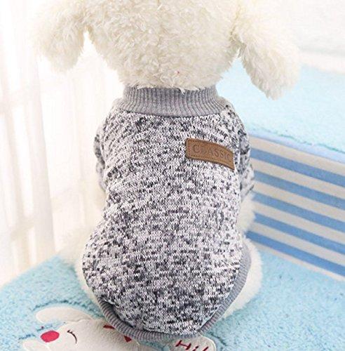 Caliente Ropa de Perros, Chaqueta Abrigo Cálido Suéter de Algodón de Invierno...