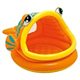 Intex Babypool Lazy Fish Shade Baby Pool, Mehrfarbig, 124 x 109 x 71 cm ----