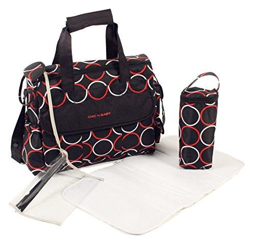 Preisvergleich Produktbild CHIC 4 BABY 40544 Wickeltasche Luxury, schwarz/rot