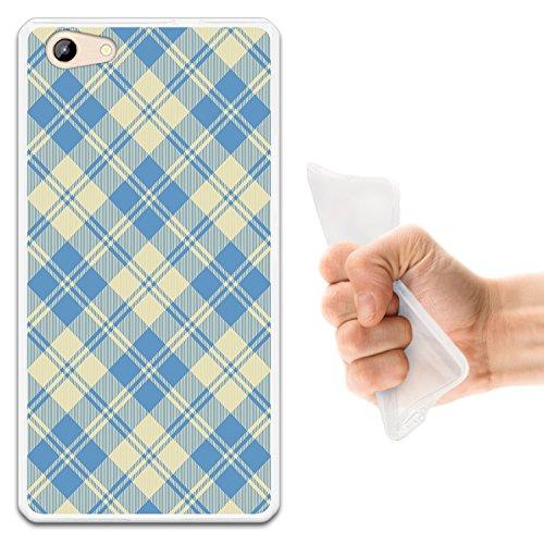 WoowCase Doogee Y300 Hülle, Handyhülle Silikon für [ Doogee Y300 ] Quadratisches Tartan Material Handytasche Handy Cover Case Schutzhülle Flexible TPU - Transparent