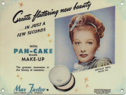 max-factor-pan-cake-make-up-lucille-ball-plaque-metal-enseignes-en-metal-200mm-x-150mm