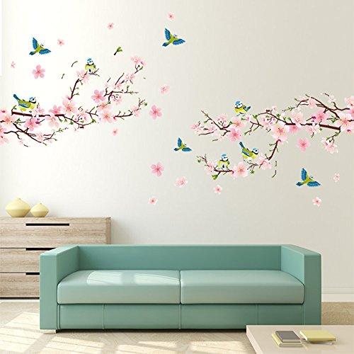 Alicemall Wandtatoo Wandaufkleber Wanddeko Kinderzimmer Abnehmbare Sticker Blumen Wandtattoo 2 Stück (Blumen)