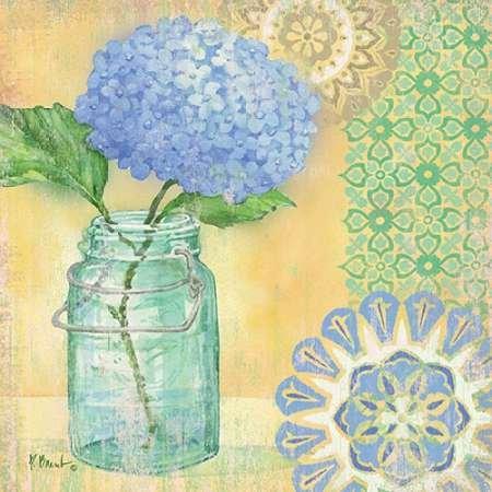 Fine Art Print–vintage Glas Floral II von gango Editions, 19 x 19