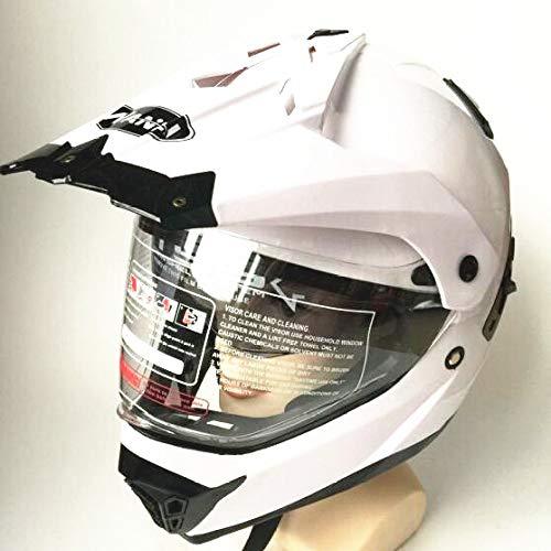 Berrd Casco Capacetes Casco moto ATV Casco moto Cross Downhill Casco moto off road DOTo bianco L