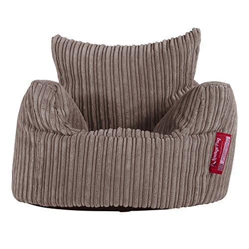 Lounge Pug, Kindersessel Sitzsack, Sitzsack Kinder, Cord Nerzfarben