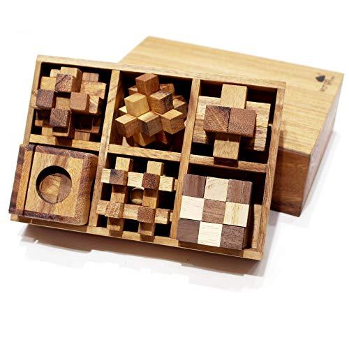 (YXXHM- Entsperren Spaß Spielzeug Educational Dekompression Holz Abnehmbare Erwachsene Kinder 6 Stück Set Montiert 3D Einzel Artikel Größe: 5 * 5 * 5 cm, Verpackung Größe: 18,5 * 12,5 * 6 cm,C)