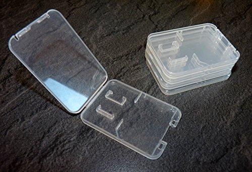 5 Stück Schutzhülle für SD Speicherkarte (bitte Model auswählen) (Für SD+Micro SD (Extra Flach))