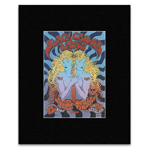 BLACK CROWES & OASIS - Santa Barbara Bowl 2001 Matted Mini Poster - 28x20.1cm Santa Barbara Bowl