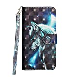 ShinyCase iPhone 5/5S/5SE Funda Piel PU Brillante 3D Drawing Tapa PU Piel Protector Glitter...