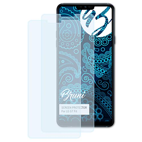 Bruni Schutzfolie für LG G7 Fit Folie, glasklare Displayschutzfolie (2X)