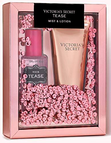 Victoria Secret NOIR TEASE 2 Pc Gift Set Body Mist & Fragrance Body Lotion