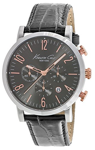 Wristwatch KENNETH COLE WATCH - SPORT GENT S/S CHRONO IP ROSE GOLD DETAILS CROCODILE TEXTURE STRAP DATE 3 ATM 44mm 10020825