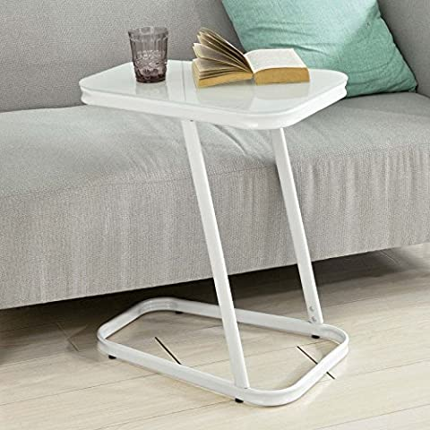 SoBuy® FBT43-W, Coffee Table Side Table End Table, Bed Sofa Table Laptop Table, White