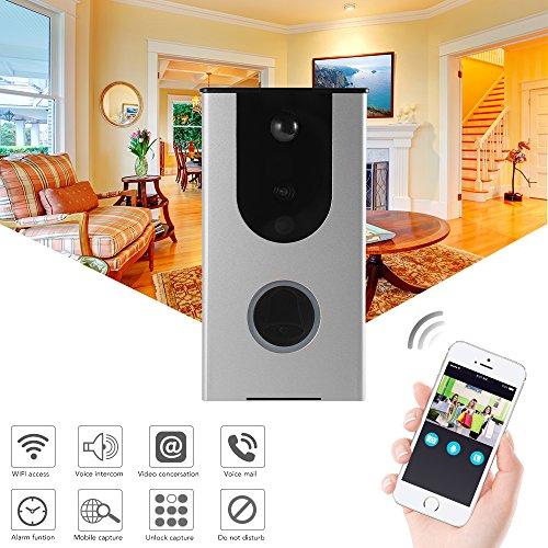 Xcsource portabellare smart wifi senza fili con fotocamera grandangolare 720p allarme video intercomunicante rilevamento movimento pir memoria cloud cloud antimanomissione hs1004