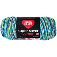 Coats: Yarn Red Heart Super Saver Yarn Wildflower, Paper, Multicoloured, 0.1 x 0.1 x 0.1 cm
