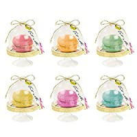 """Talking Tables Alice in Wonderland Favour Domes Mad Hatter Tea Party, Gold, Pack of 6, Height 5cm, 2"""""""
