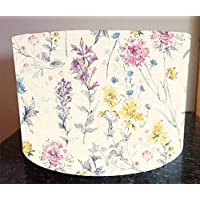 Handmade Lampshade made with Laura Ashley Fabric in Wild Meadow Floral Lamp Shade Light