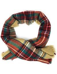 Bufanda manta de invierno grande cuandros tartan 144 cm x 144 cm