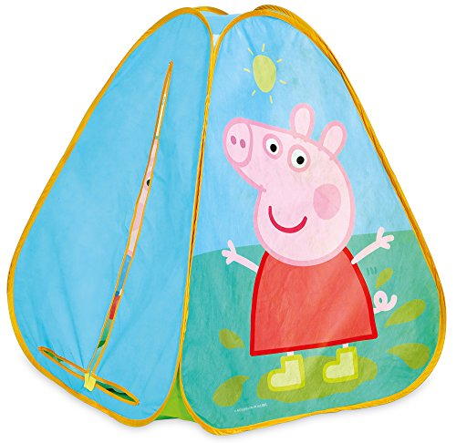 Peppa Pig KidActive Pop Up Playhouse Play Tent -  Indoor or Outdoor Portable Play - Peppa Pig and George