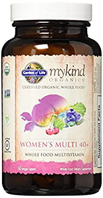 Garden of Life Kind Organics Womens Whole Food Multivitamin 40+ (Gluten & Dairy Free, 60 Vegan Tablets)