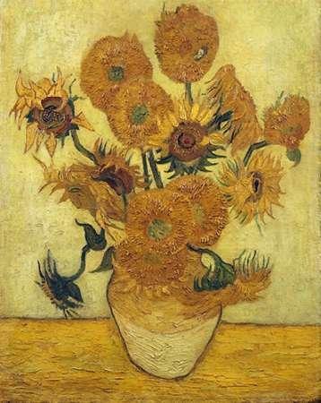 Feelingathome- imprimer-sur-toile-100%coton-Vase-avec-quinze-tournesols,-1889-cm86x67-affiche-reproduction-gravure-