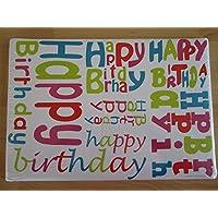 Feliz cumpleaños manteles individuales de papel–100unidades