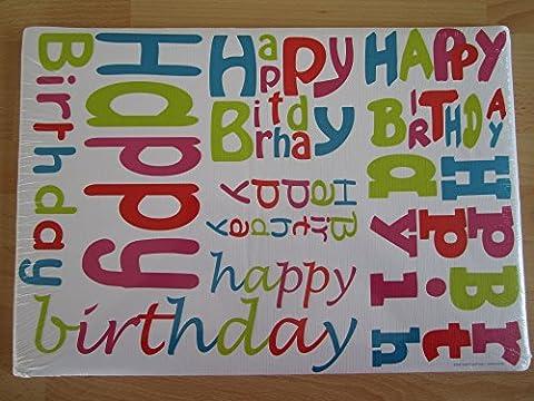 Sets de table en Papier Inscription Happy Birthday-Lot de 100