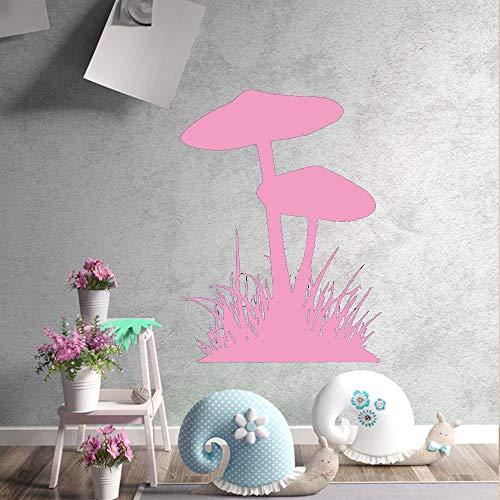 zqyjhkou Funghi artistici, Erba Decorazioni per la casa Adesivi murali in Vinile per la Camera dei Bambini Adesivo murale Impermeabile 6 L 43 cm x 58 cm