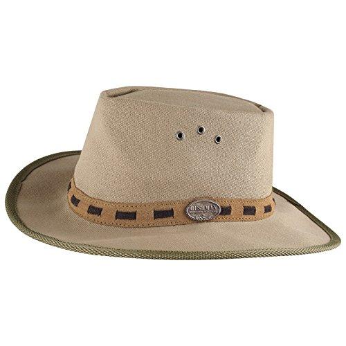 AMBERG Safari-Hut Outdoor-Hut Sonnenhut Sonnenschutz-Hut atmungsaktiv in Khaki / L (Safari Hüte)