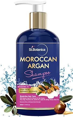 StBotanica Moroccan Argan Hair Shampoo With Organic Argan Oil (No Sulphate & Paraben), 300ml
