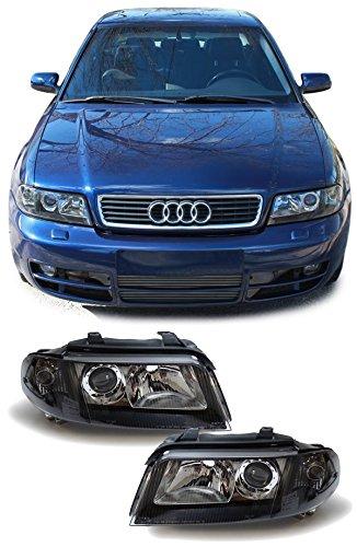 Carparts-Online 13860 Facelift DE Klarglas Scheinwerfer schwarz (Audi Scheinwerfer B5)
