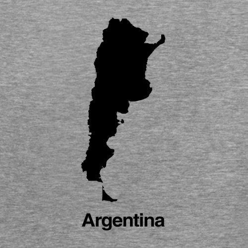 Argentina / Argentinien Silhouette - Damen T-Shirt - 14 Farben Sportlich Grau