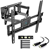 Soporte de TV Pared Articulado Inclinable Y Giratorio - Soporte De TV para Pantallas De 32-55' TV - MAX VESA 400x400mm, para Soportar 45kg, Cable HDMI Y Nivel De Burbuja Incluidos