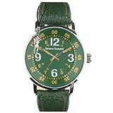 Bruno Banani Herrenuhr Moros Leder-Armband grün Quarz-Uhr Ziffernblatt grün D1UBR30013