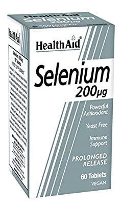 HealthAid Selenium 200ug - Prolong Release - 60 Vegan Tablets by HealthAid