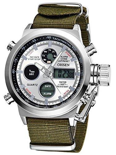 alienwork-dualtime-reloj-digital-analogico-cronografo-lcd-multi-funcion-nylon-blanco-verde-osad1601-