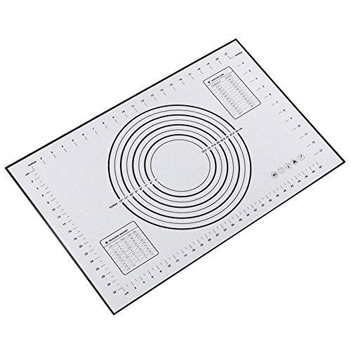 Fyore Silikon Nonstick Backmatte BPA Frei Wiederverwendbare Backunterlage Backen Rollen Matte mit Messungen (Schwarz)