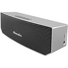 Bluedio BS-3 (Camel) Portable Casse Bluetooth Diffusore Altoparlante Revolution 3D Neodymium Magnets/52mm Ultra-big Drive Units/Rich Bass Wireless Soundbar/Excellent 3D Surround System Retail-Gift Packgage (Argento)
