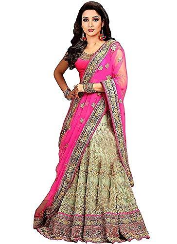 100c61c0ac83 Viyona Fab Embroidered Bridal Angora Lehenga Choli (MAGA_1, Multi, Free  Size)