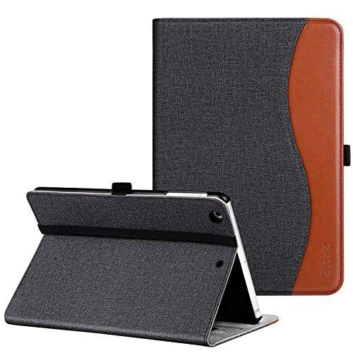 Ztotop Hülle für iPad Mini,Premium PU Kunstleder Business dünn Leichte Ständer smart Case Cover für iPad Mini 3/Mini 2/Mini 1,mit Auto Schlaf/Wach Funktion und Steckplatz,Mehrfachwinkel,Denim Schwarz