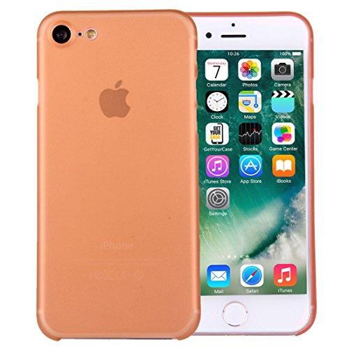 wortek iPhone 7 Hülle Case Schutzhülle (4,7 Zoll) - integrierter Schutz für Kamera Linse - Ultra dünn / Ultra Slim - Farbe Orange Transparent Orange