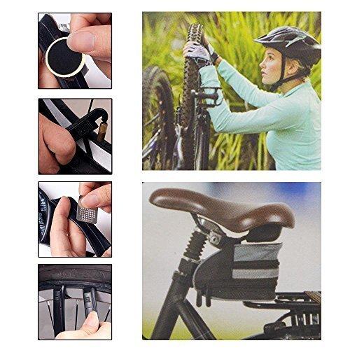 DRULINE 24-teiliges Fahrrad Reparaturset Flickset Pannenset mit Multifunktionswerkzeug