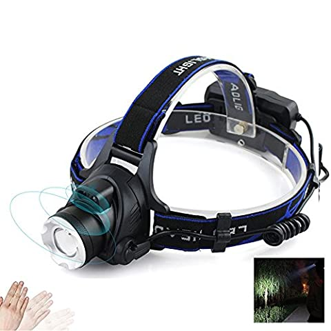 SDDMALL Head hold Headlight Light 10W IR Sensor Headlights Aluminium Zoom Adjustable Head Lamp