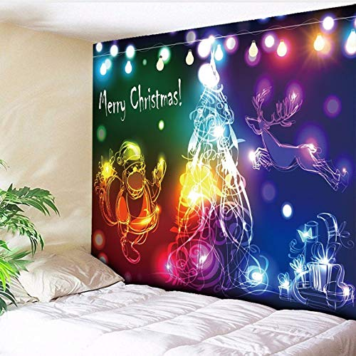 Guokee tapestry merry christmas decorato per parete, cool lights alberi di natale wall hanging carpet paintings hippy home decor-90 * 75cm