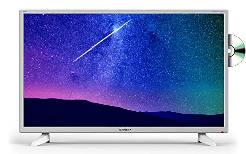 Sharp LC-32DI3221KW 32 Inch HD Ready LED TV with Freeview HD and built-in DVD player - White (2018 model)