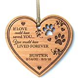 Personalized Pet Memorial dog Ornament 2016 Christmas Sympathy gift for Pets for loss of dogs or cats In Memory keepsakes by DaySpring International (If Love could have saved You heart Ornament) by DaySpring Premier
