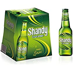 Shandy Cruzcampo Limón Cerveza - Pack de 6 Botellas x 250 ml - Total: 1.5 L