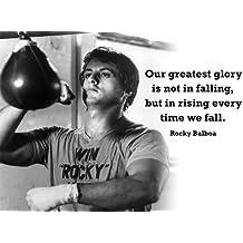 1 Inglés de Rocky - - de boxeo - greatest glory con texto en inglés - A3 Póster
