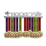 VICTORY HANGERS Porta Medaglie HOCKEY Medal Hanger * Medal Display | Medagliere Da Muro | Elegante Espositore Per Medaglie * 100% Acciaio Inossidabile | Medagliere Da Parete | Per I Campioni !